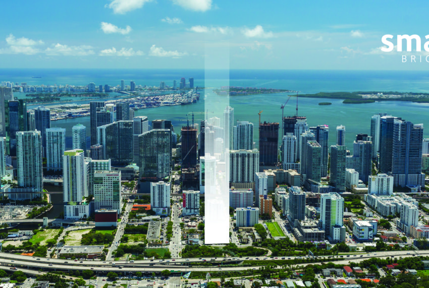 Miami skyline with ghost