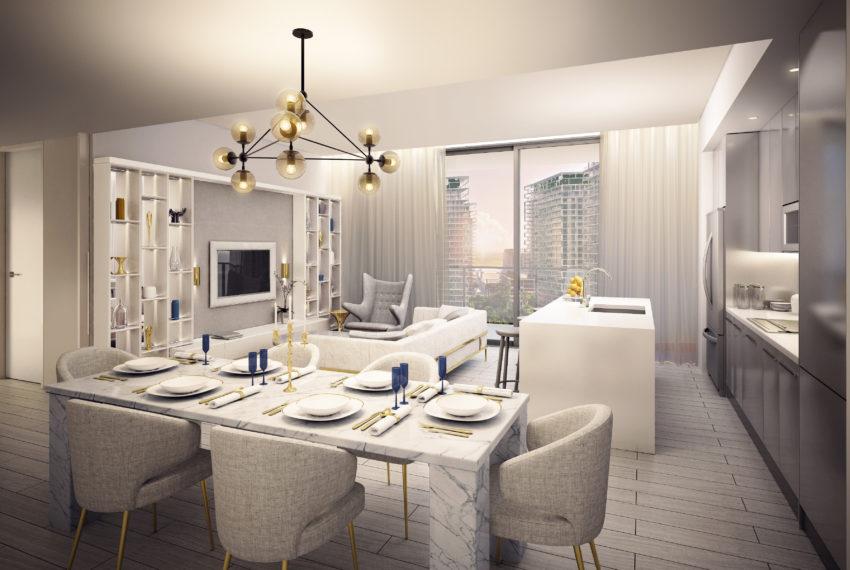 living and kitchen minimal - unit C-1
